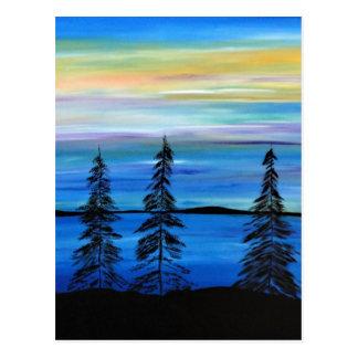 Paraíso en colores pastel postal