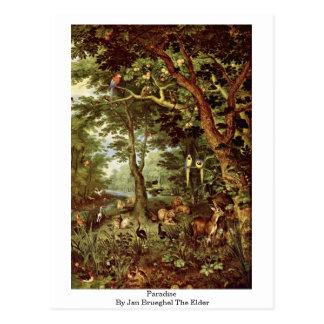 Paraíso en enero Brueghel la anciano Postal