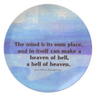 Paraíso inspirado de la cita de Milton perdido Plato