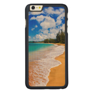 Paraíso tropical de la playa, Hawaii Funda Fina De Arce Para iPhone 6 Plus De Carved
