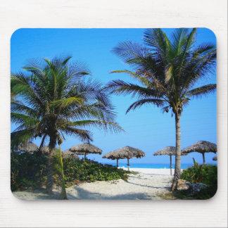 Paraíso tropical Mousepad de la playa del océano Alfombrilla De Ratón