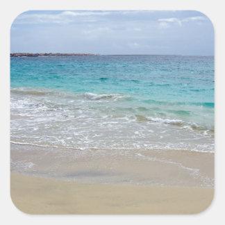 paraíso tropical pegatina cuadrada