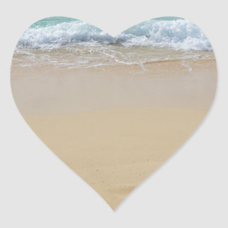 paraíso tropical pegatina en forma de corazón