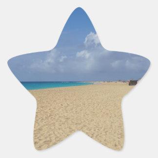 paraíso tropical pegatina en forma de estrella