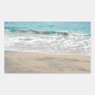 paraíso tropical pegatina rectangular