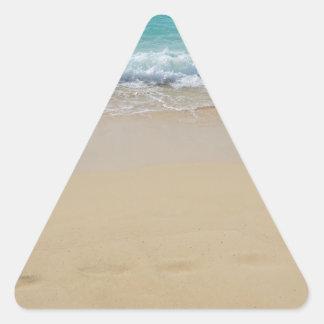 paraíso tropical pegatina triangular