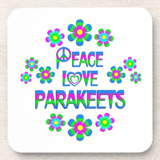 Parakeets del amor de la paz