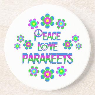 Parakeets del amor de la paz apoyavasos