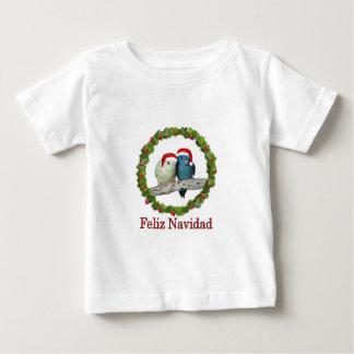 Parakeets Santa de Lineolated Camiseta De Bebé