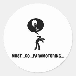 Paramotoring Pegatinas Redondas