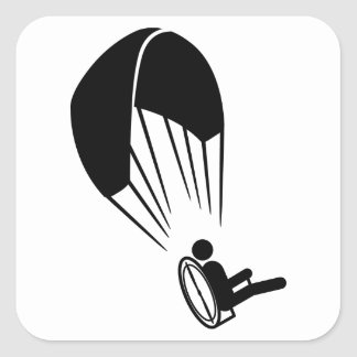 Paramotoring Pegatina Cuadrada