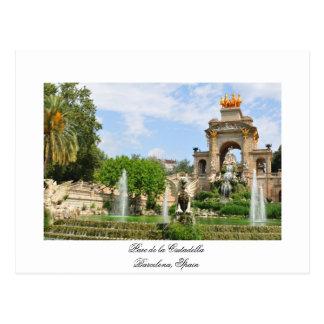Parc de la Ciutadella en Barcelona Postal