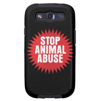 Pare el abuso animal galaxy SIII carcasa