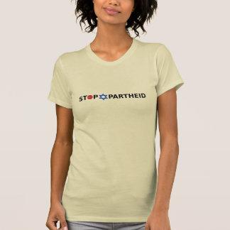 Pare el apartheid en la camiseta ligera