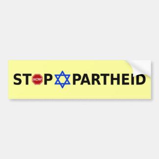 Pare el apartheid pegatina para coche