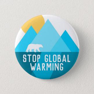 Pare el botón del glaciar del oso polar del