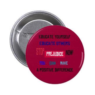 Pare el botón del perjuicio (rojo oscuro)