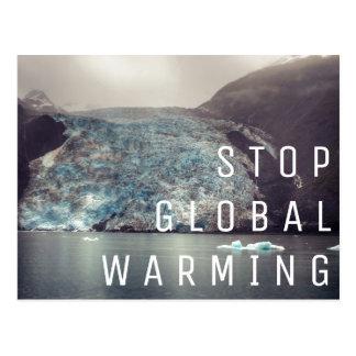 Pare el calentamiento del planeta - postal del