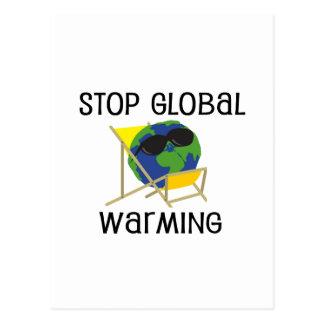 Pare el calentamiento del planeta postal