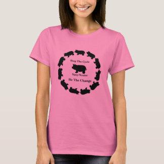 Pare el ciclo, sea el cambio, camiseta básica del