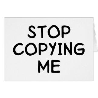 Pare el copiar de mí tarjeta de felicitación