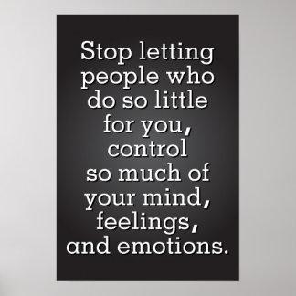 Pare el dejar de gente controlarle póster