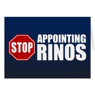 Pare el designar de RINOs Tarjeta De Felicitación