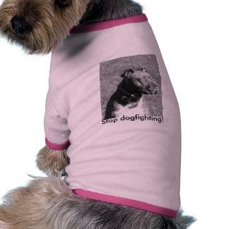 ¡Pare el dogfighting! Camisetas Mascota