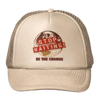 Pare el esperar del gorra del |