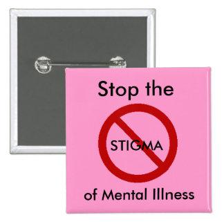 Pare el estigma de la enfermedad mental pin
