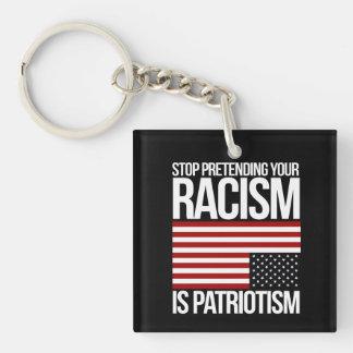 Pare el fingir de su racismo es patriotismo -- llavero