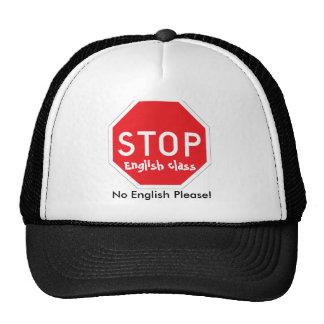 PARE el gorra eniglish de la clase