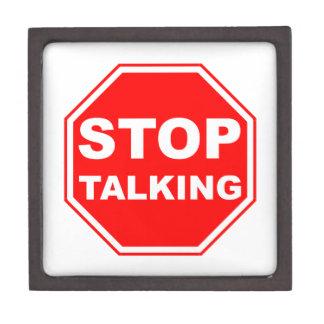 Pare el hablar de la muestra caja de regalo