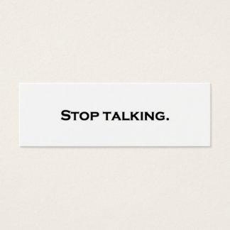 Pare el hablar tarjeta de visita pequeña