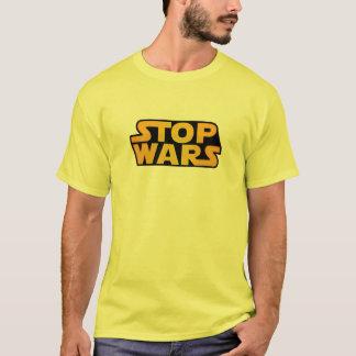 Pare el oro de las guerras - esperanza de la paz camiseta