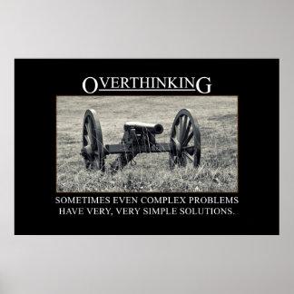 Pare el overthinking de las soluciones a los probl póster