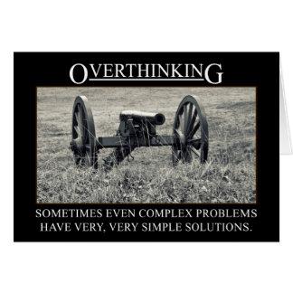 Pare el overthinking de las soluciones a los probl tarjeta de felicitación