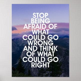 Pare el ser cita de motivación asustada póster