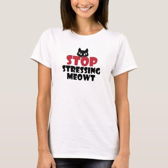 Pare el subrayar de la camiseta linda del gato de