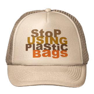 Pare el usar del gorra de las bolsas de plástico