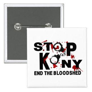 Pare Kony. Termine la matanza Chapa Cuadrada 5 Cm
