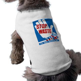 Pare la basura que es su deber patriótico -- WWII Camiseta Sin Mangas Para Perro