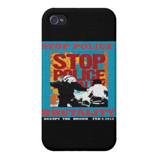 Pare la brutalidad policial, ocupe el aviador 2012 iPhone 4 cárcasas