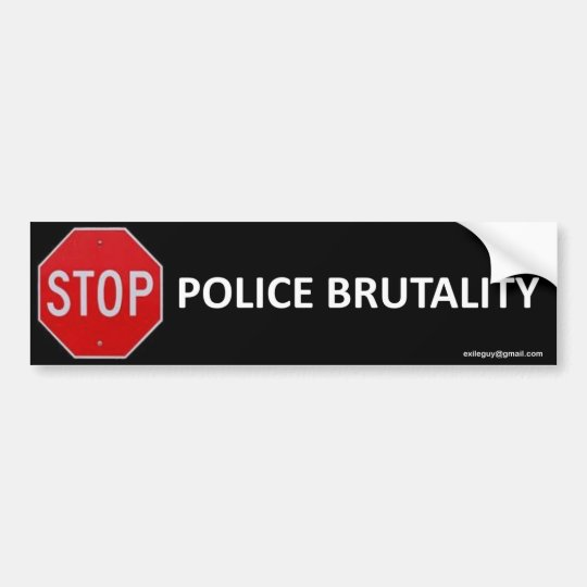 pare la brutalidad policial pegatina para coche
