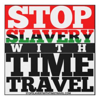 Pare la esclavitud con arte de la pared de viaje