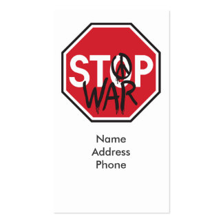 Pare la guerra tarjetas de visita