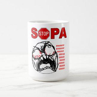 Pare la rabia FU Meme de SOPA hacen frente a la ta Taza Básica Blanca