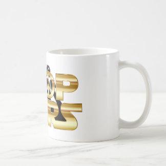 Pare las guerras taza de café