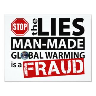 Pare las mentiras sobre el calentamiento del comunicado