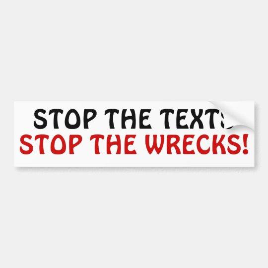 ¡Pare los textos paran las ruinas! Pegatina Para Coche